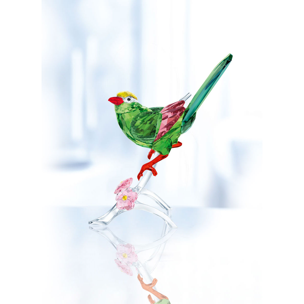 Swarovski Crystal Paradise Green Magpie Sculpture