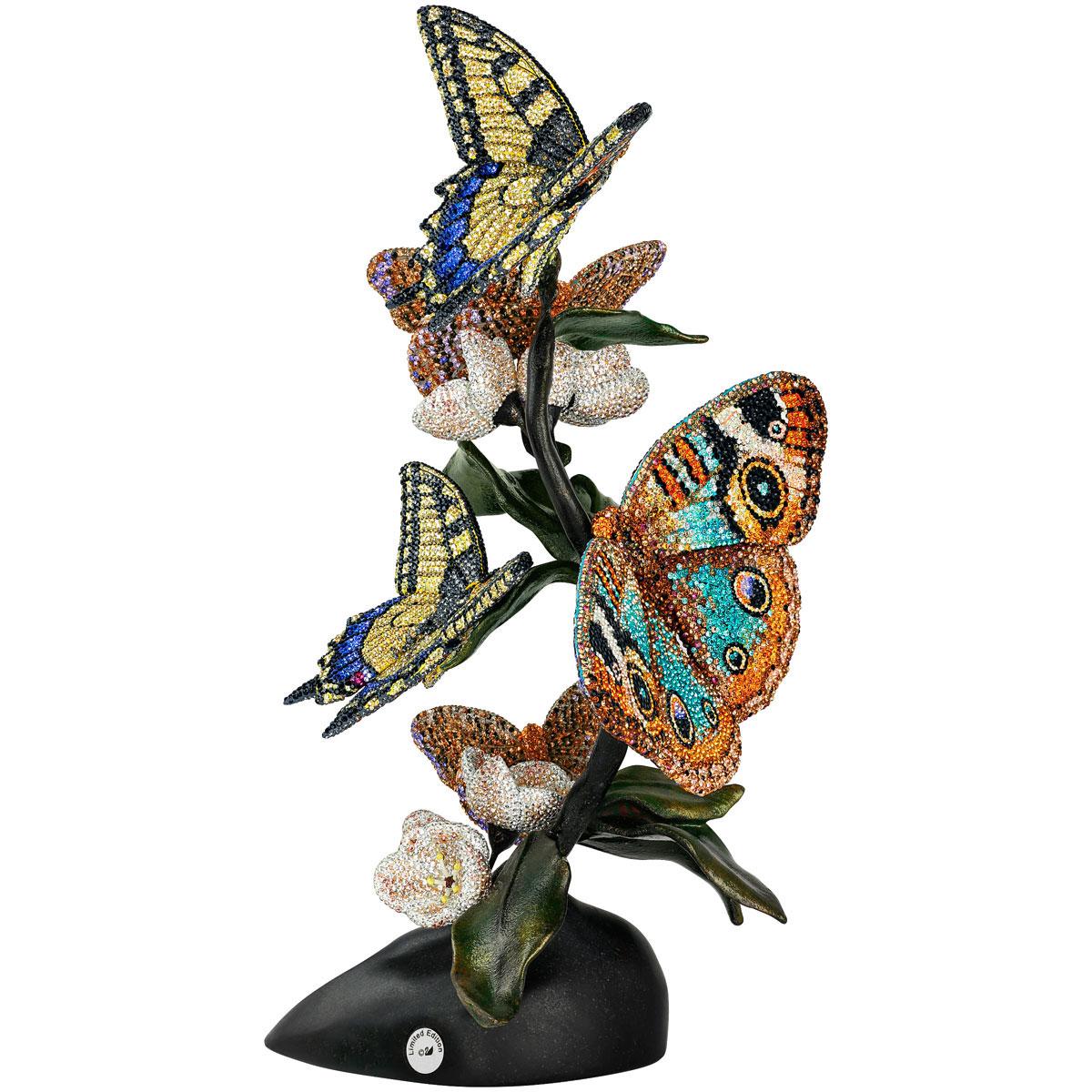 Swarovski Crystal Myriad Papili Butterflies Sculpture