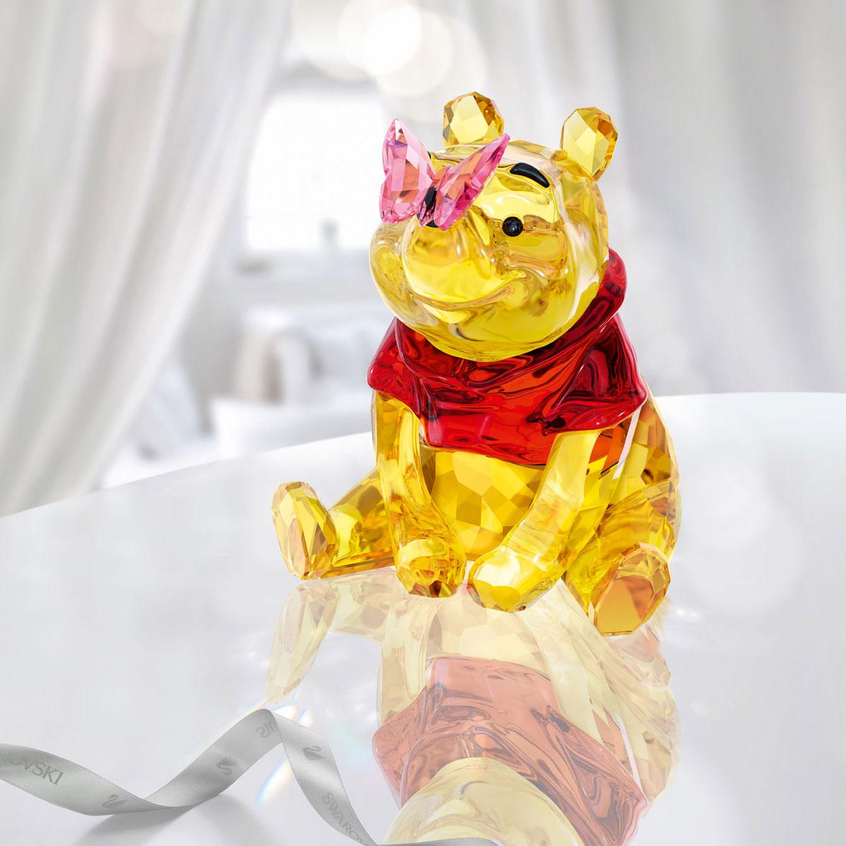 Swarovski Crystal Disney Winnie The Pooh With Butterfly