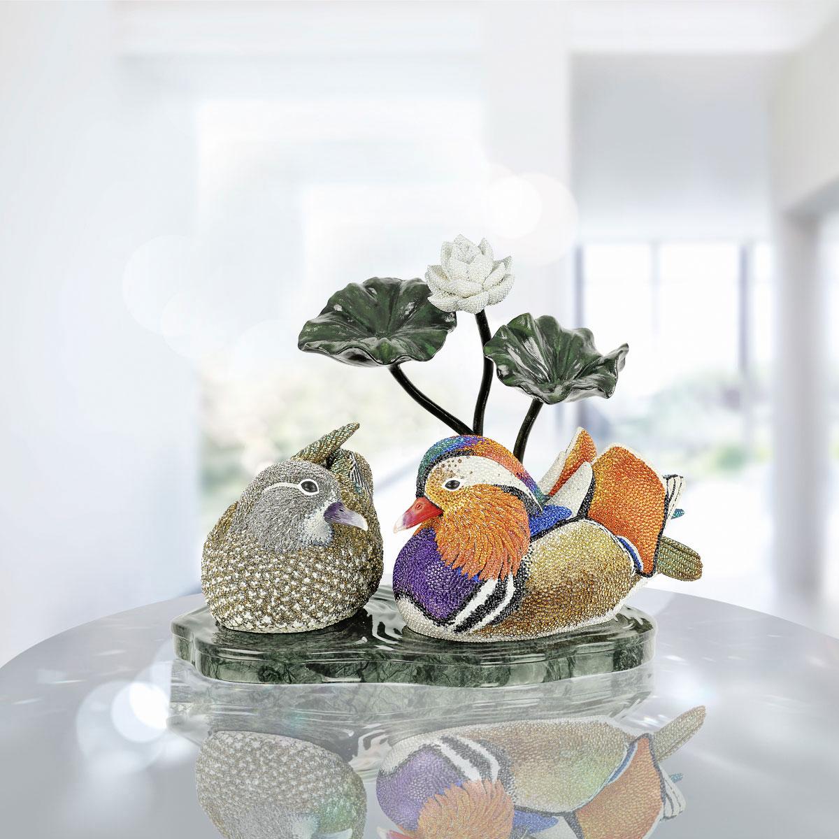 Swarovski Myriad Mandarin Duck Couple, Limited Edition