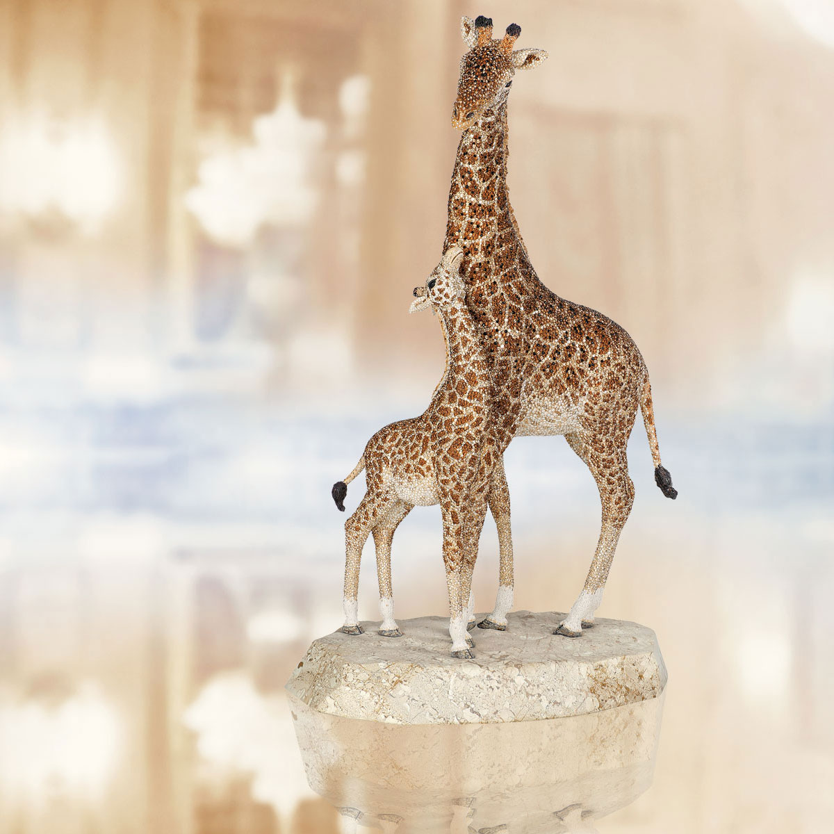 Swarovski Crystal, Myriad Kya Giraffe Sculpture, Limited Edition of 300