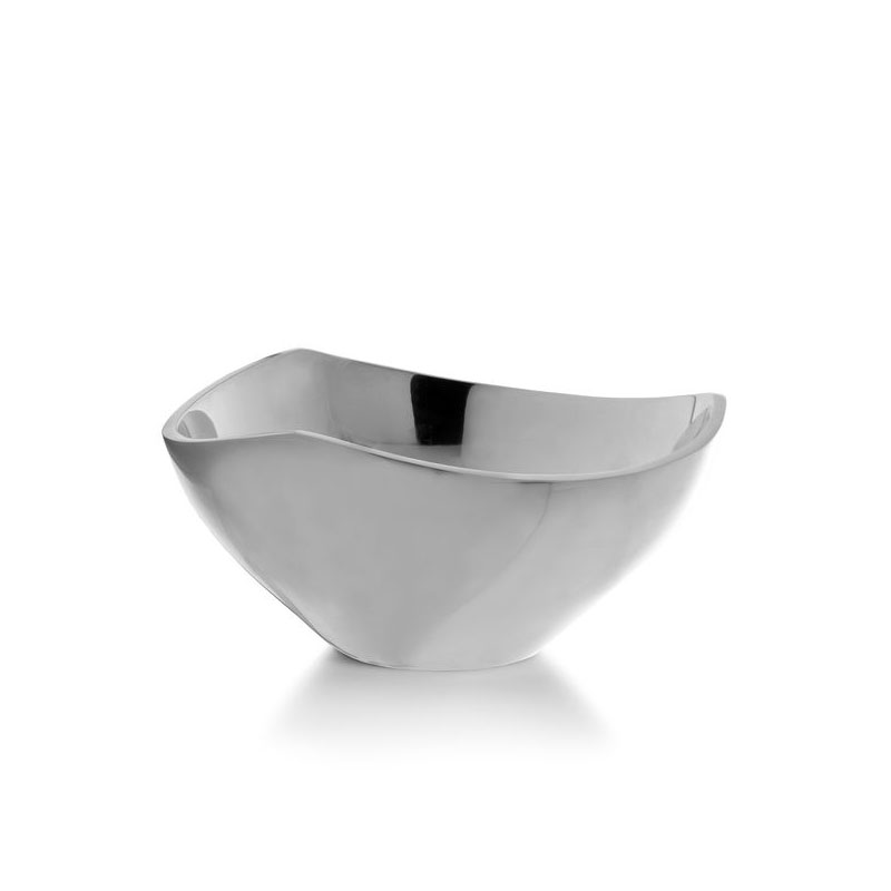 Nambe Metal Tri-Corner 1 Quart Bowl