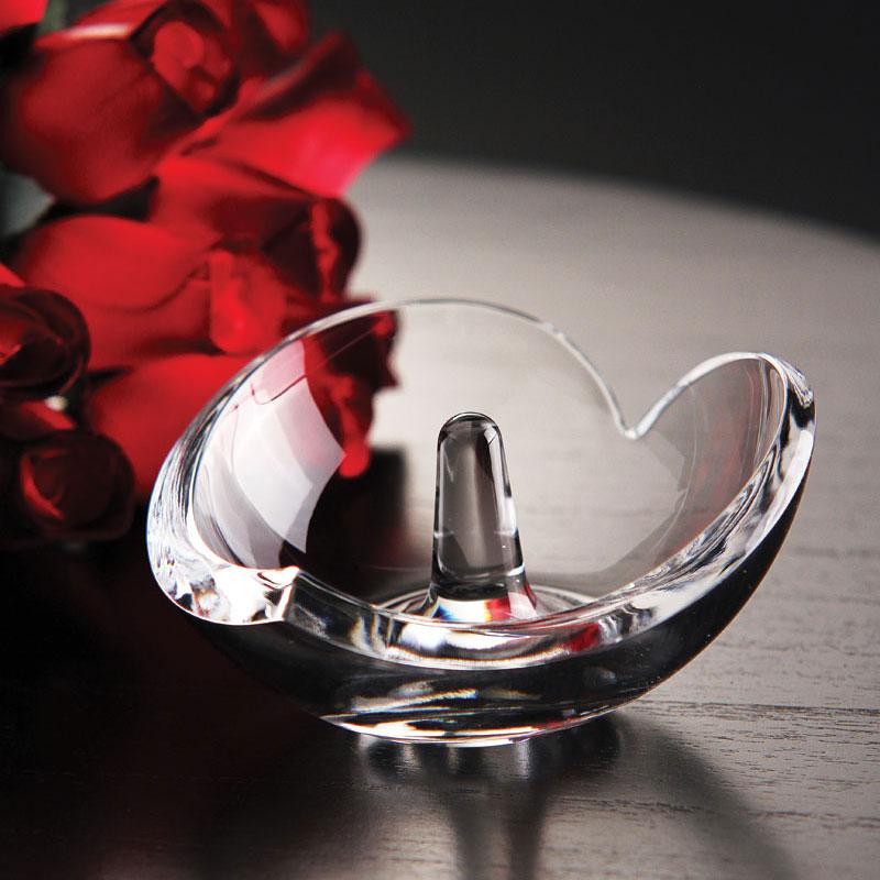 Nambe Crystal Heart Ring Holder
