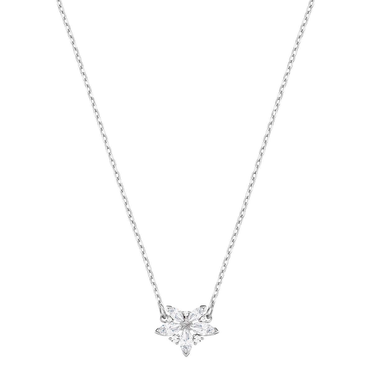Swarovski Lady Necklace, White, Rhodium