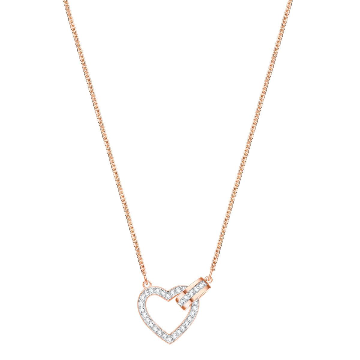 Swarovski Lovely Necklace, White, Rose Gold