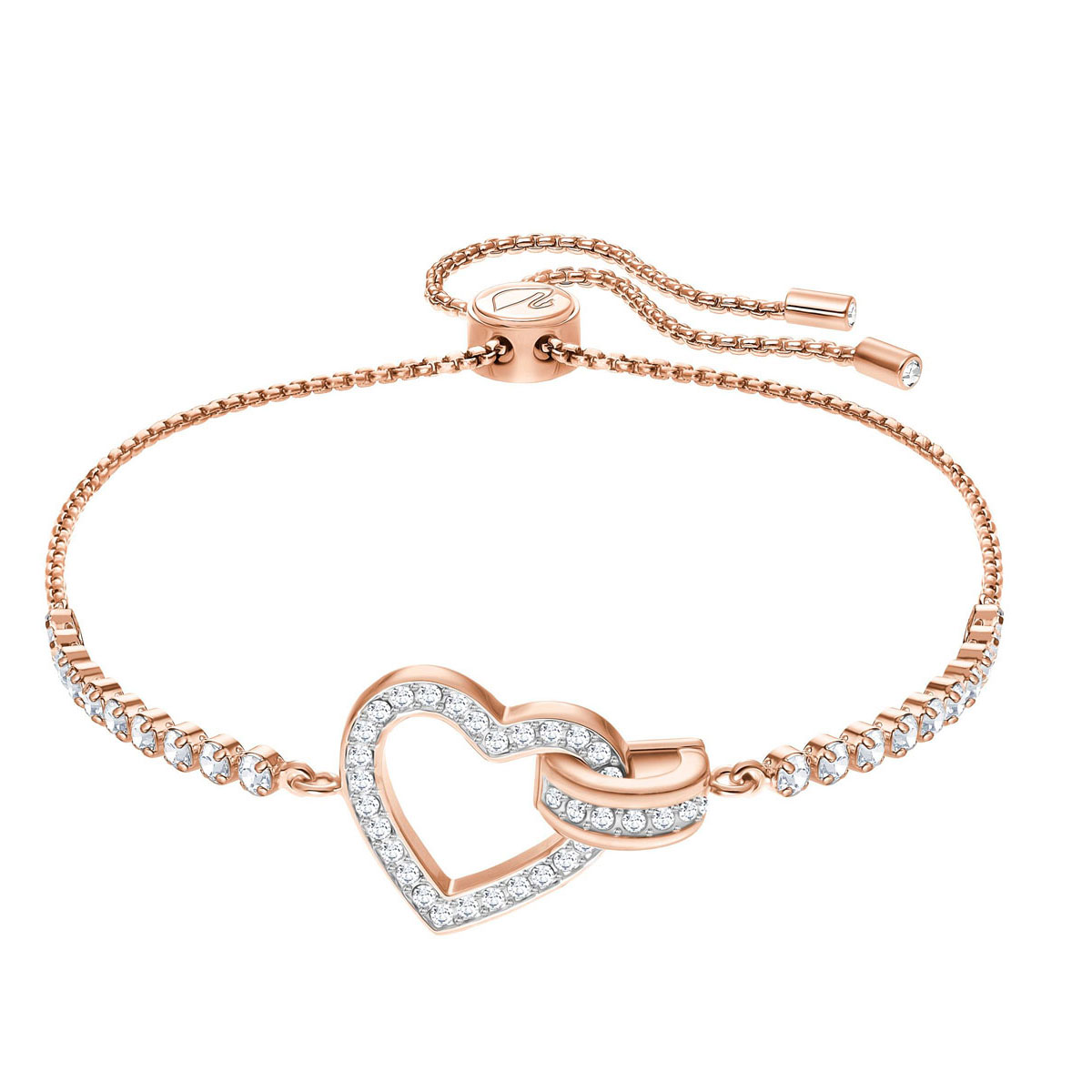 Swarovski Lovely Bracelet, White, Rose Gold