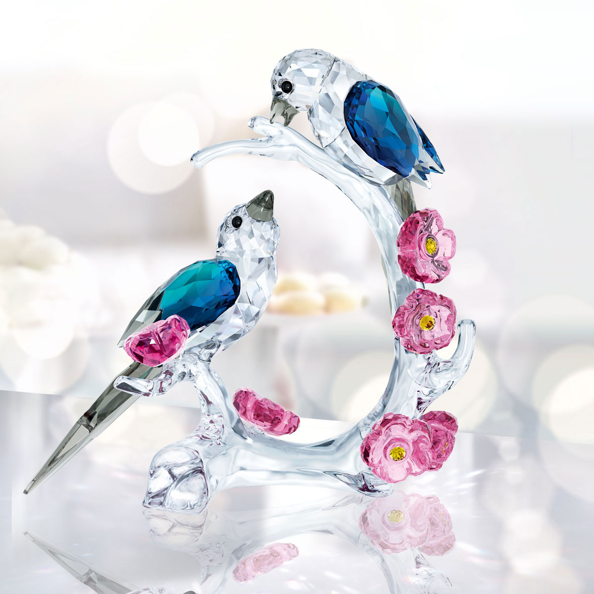 Swarovski Crystal Paradise Magpies Sculpture