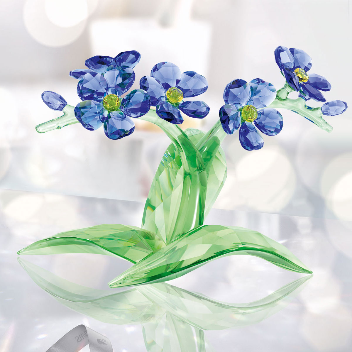 Swarovski Crystal Paradise Forget Me Not Crystal Sculpture