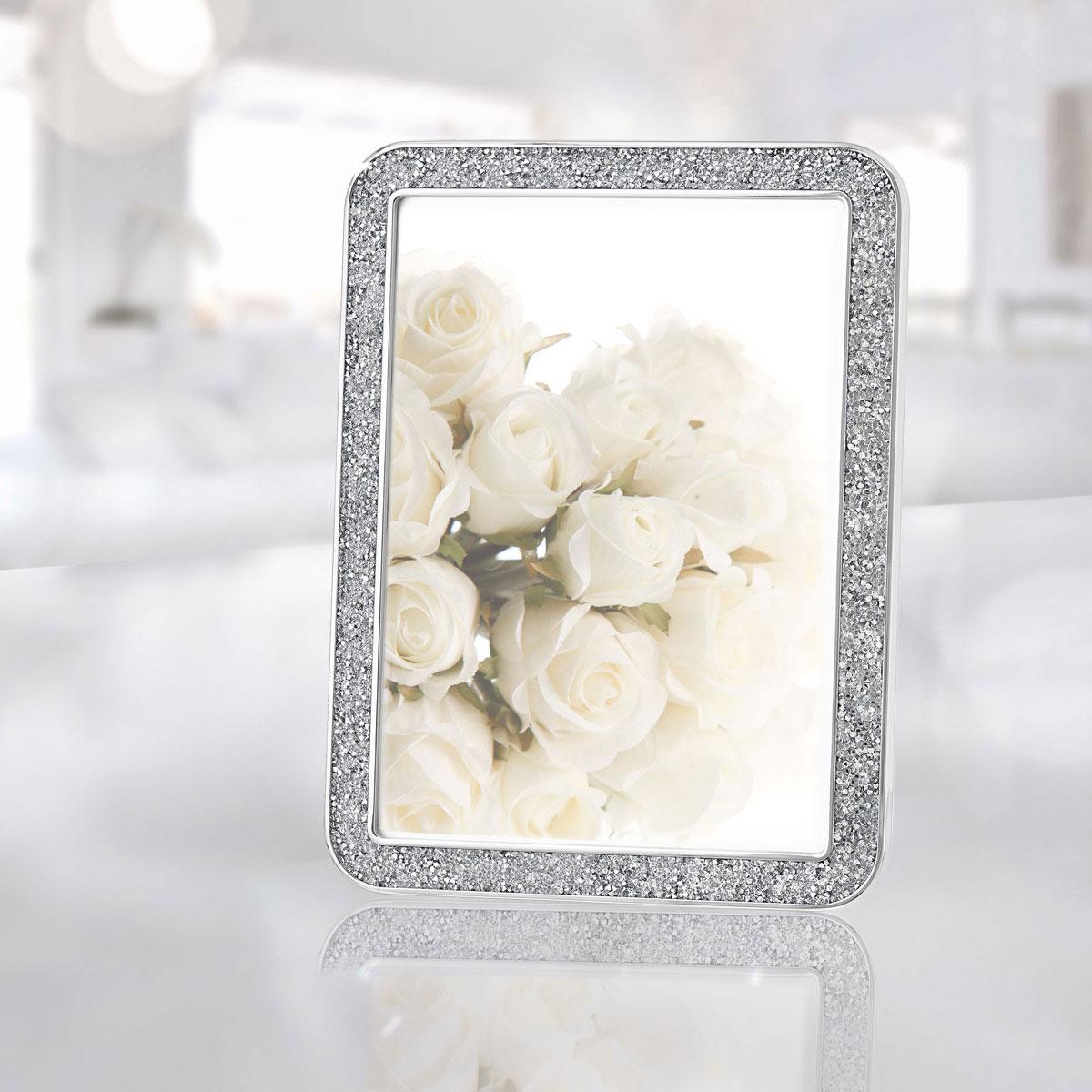 "Swarovski Crystal Minera 4x6"" Picture Frame Silver Tone"