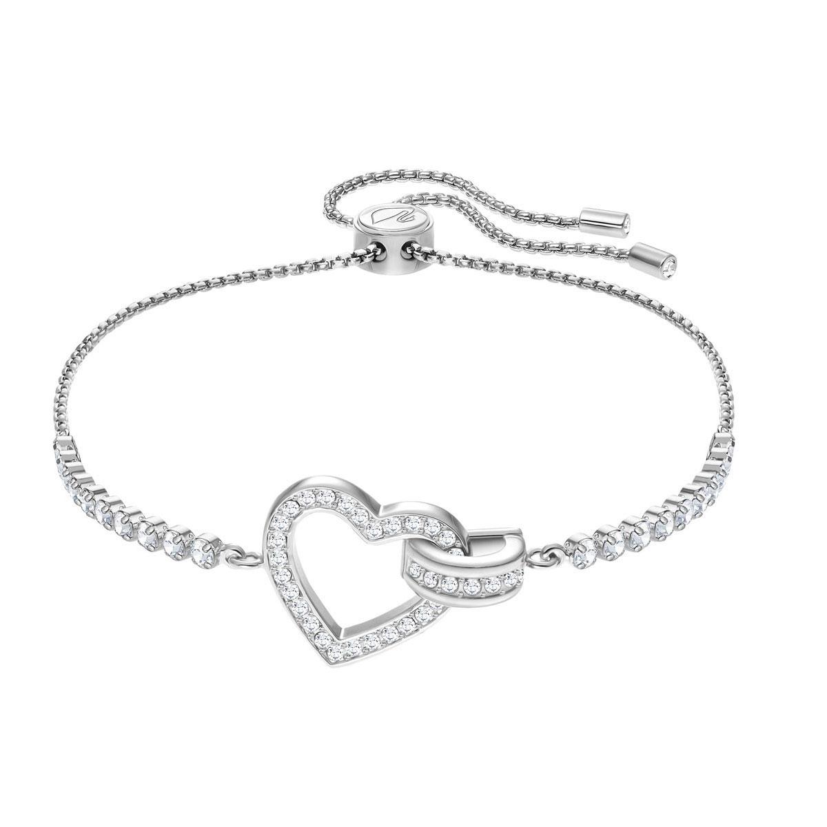 Swarovski Lovely Bracelet, White, Rhodium