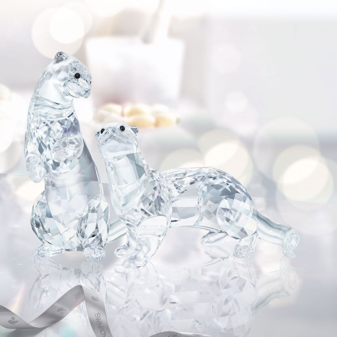 Swarovski Crystal Otters