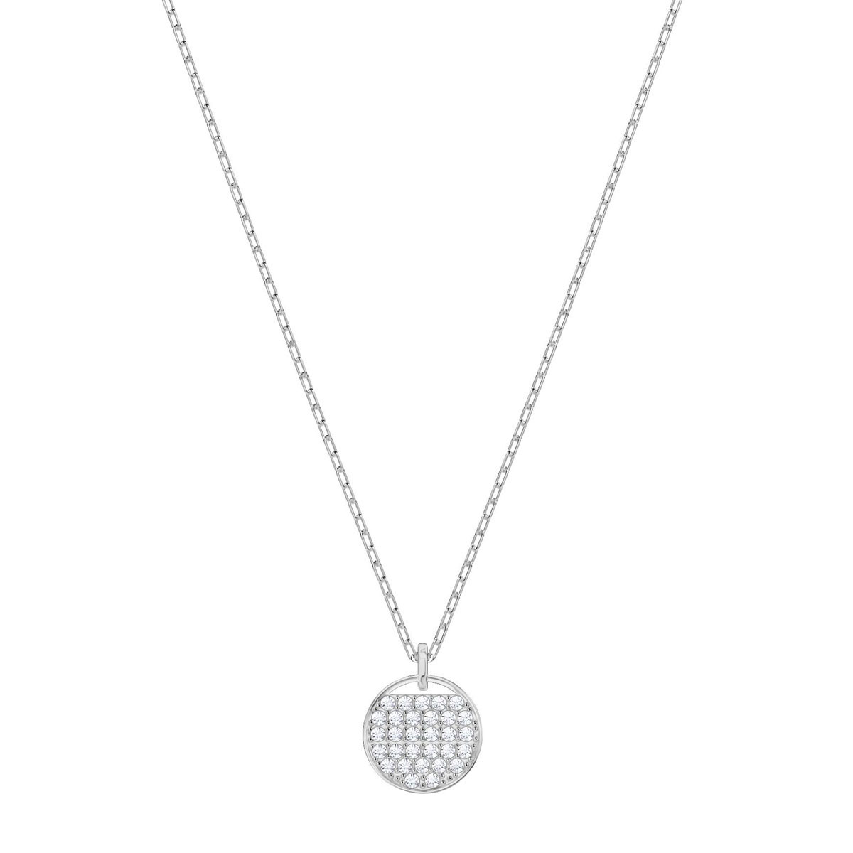 Swarovski Crystal and Rhodium Ginger Pendant Necklace