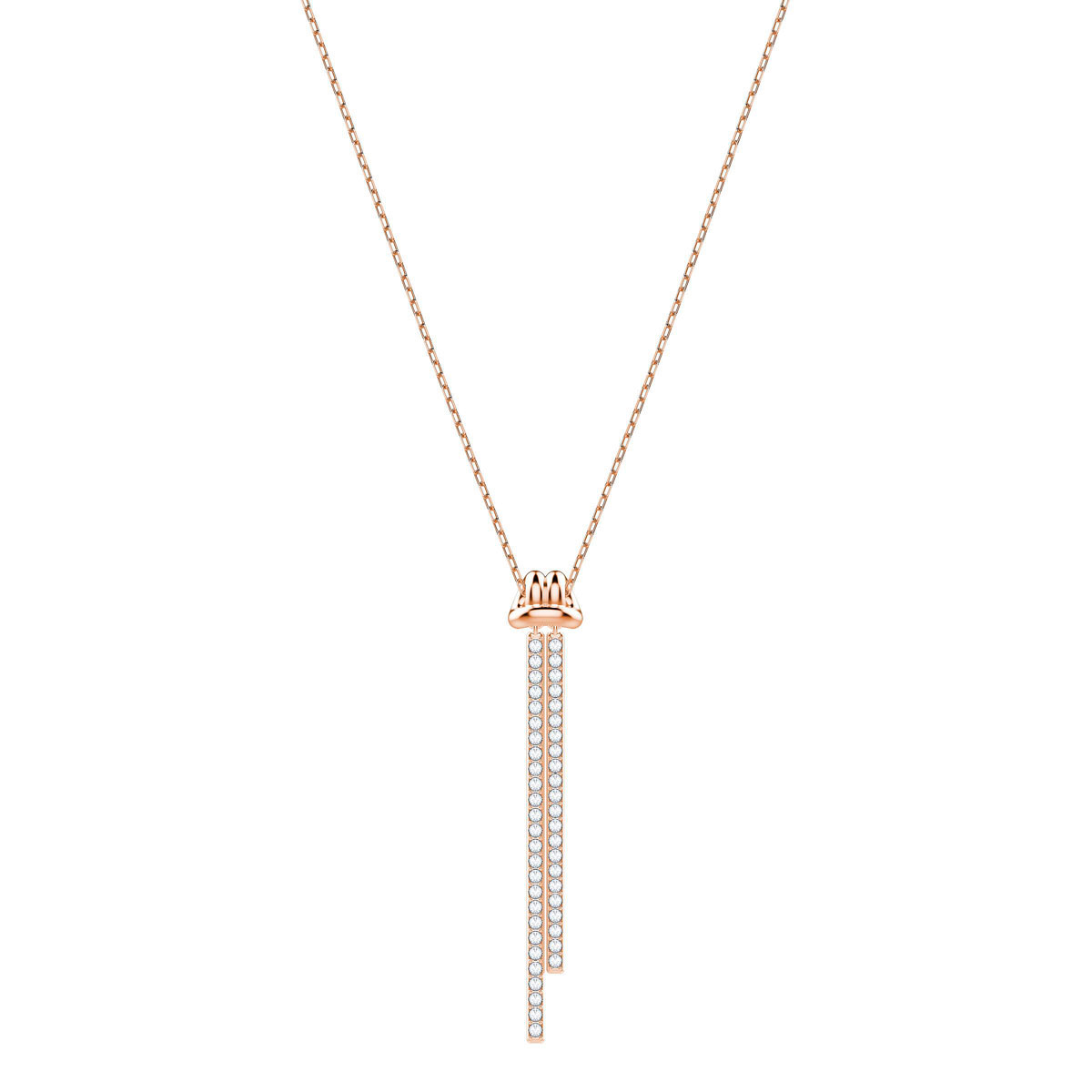 Swarovski Lifelong Y Crystal Rose Gold Pendant Necklace