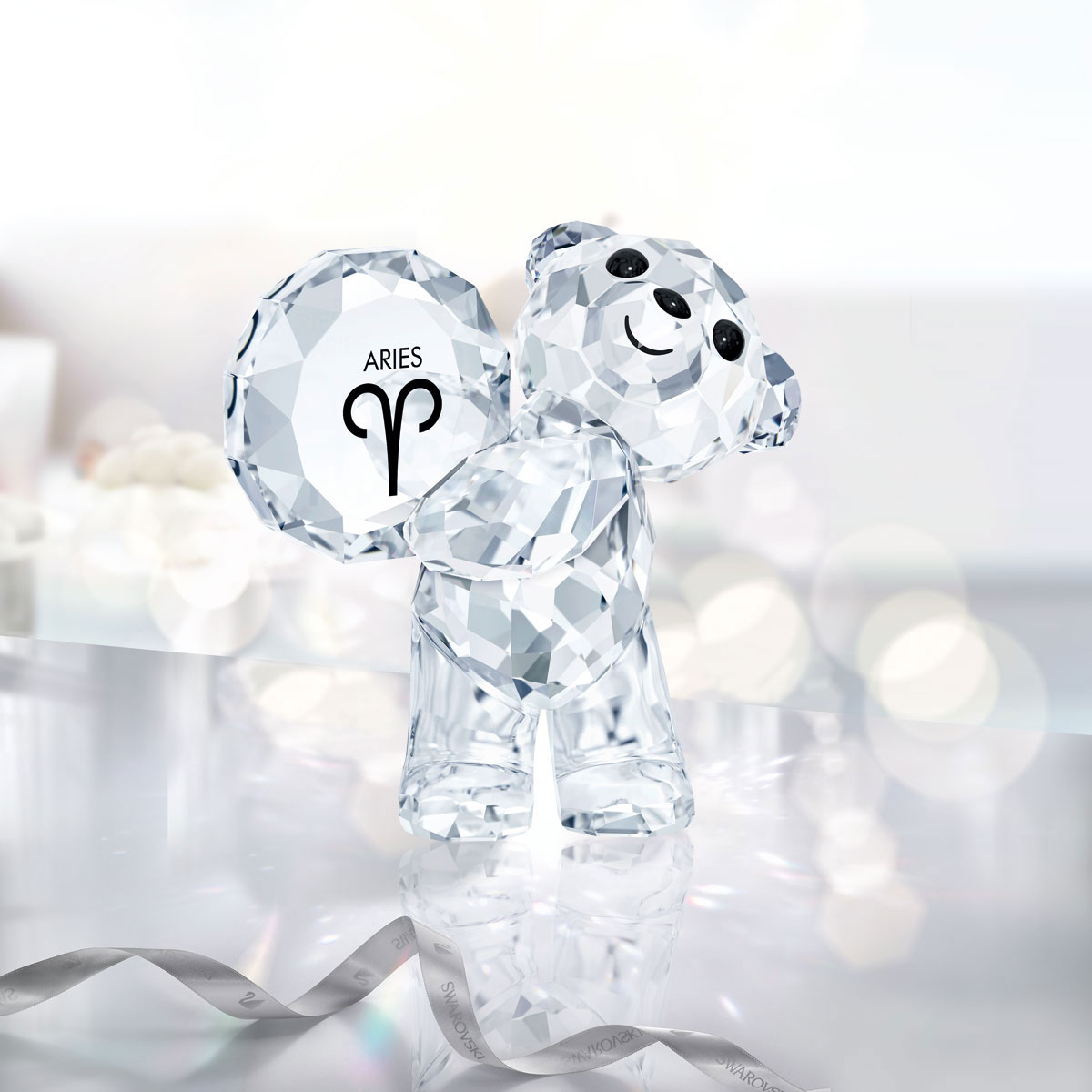 Swarovski Crystal Kris Bear Horoscope Aries Crystal Sculpture