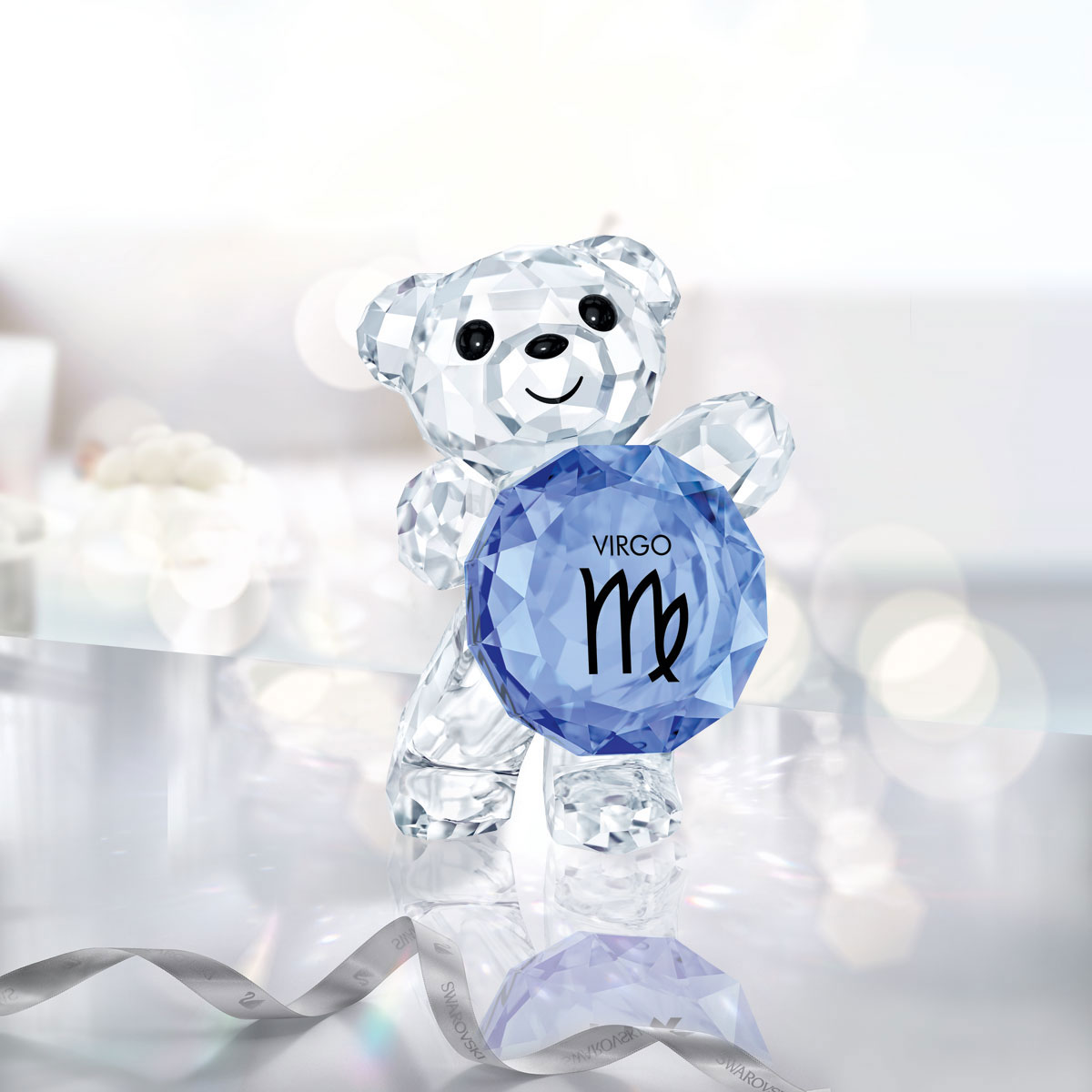 Swarovski Crystal, Kris Bear Horoscope Virgo Crystal Sculpture