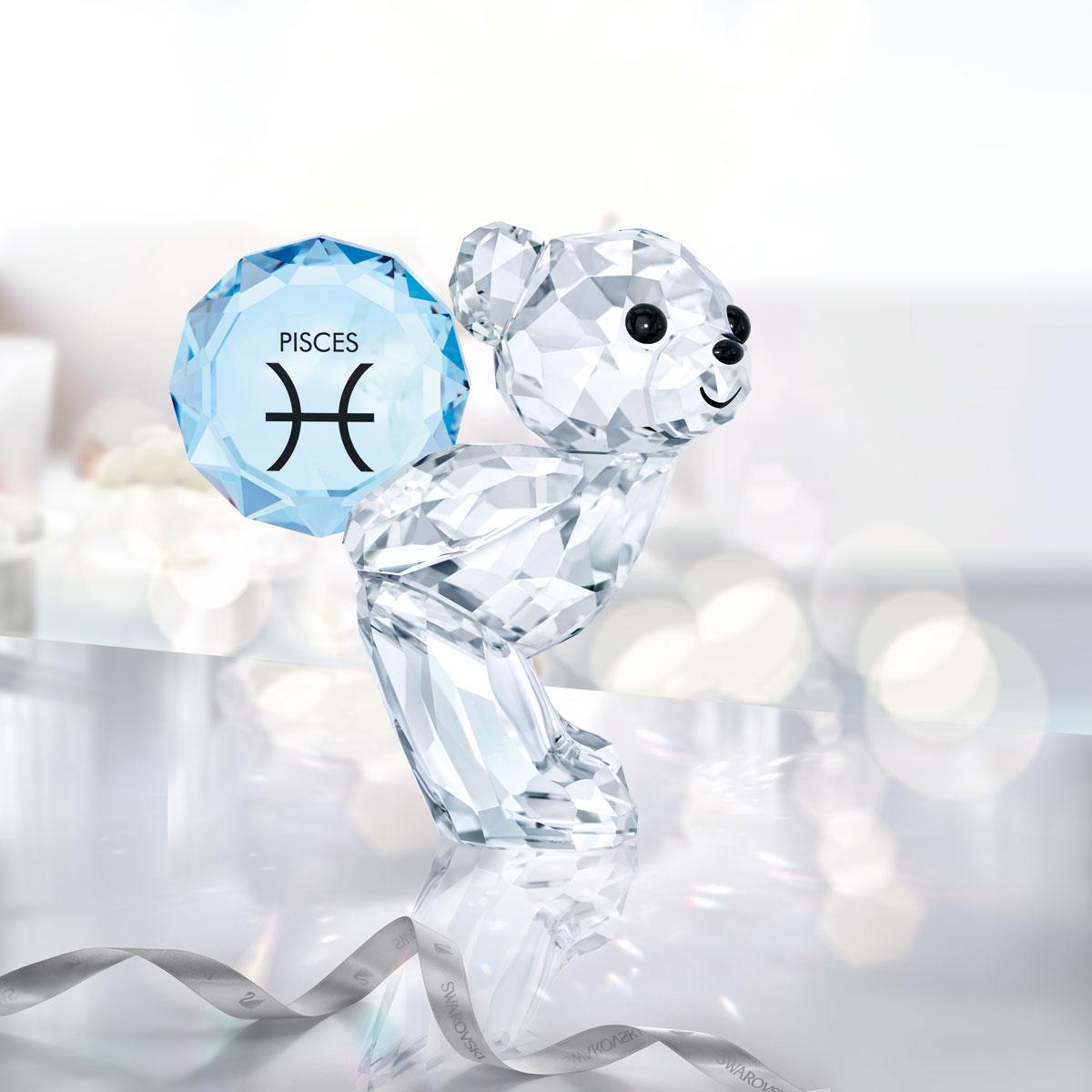 Swarovski Crystal Kris Bear Horoscope Pisces Crystal Sculpture