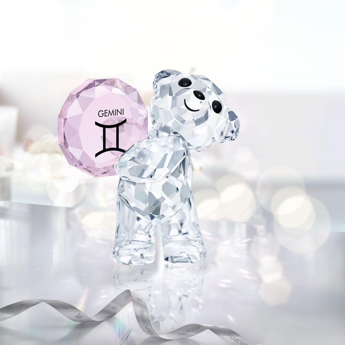 Swarovski Crystal Kris Bear Horoscope Gemini Crystal Sculpture
