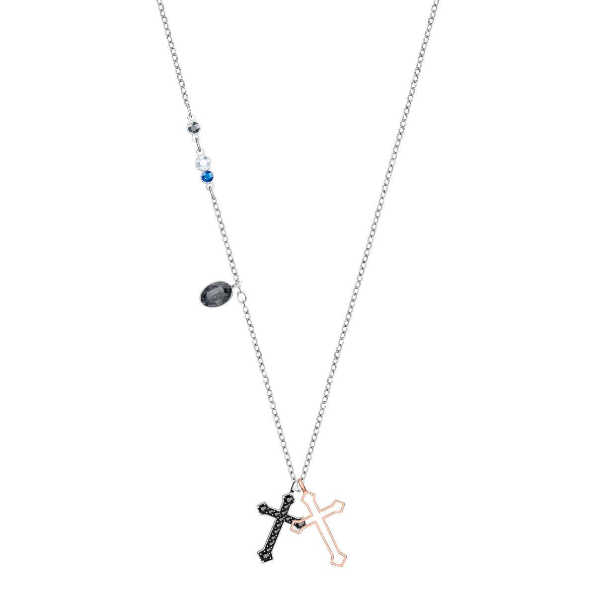 Swarovski Symbolic Mini Cross Pendant, Multi Colored, Mixed metal finish