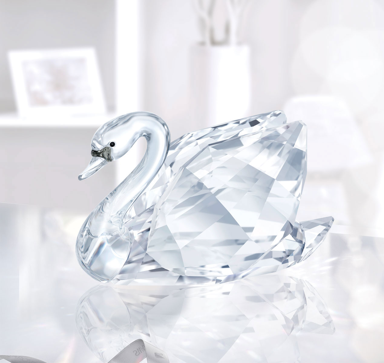 Swarovski Crystal Swan Crystal Figurine Small