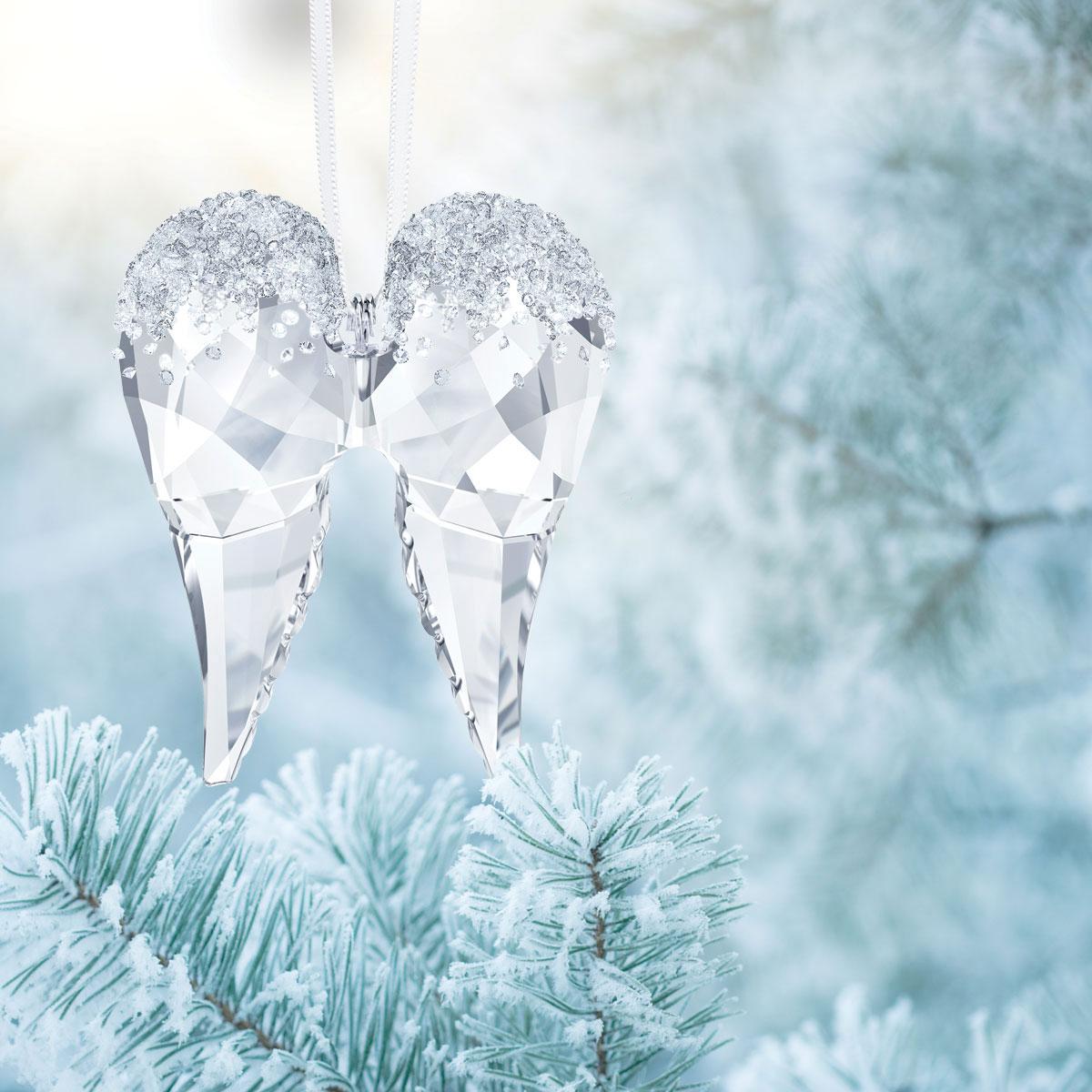 Swarovski Crystal, Angel Wings Christmas Ornament