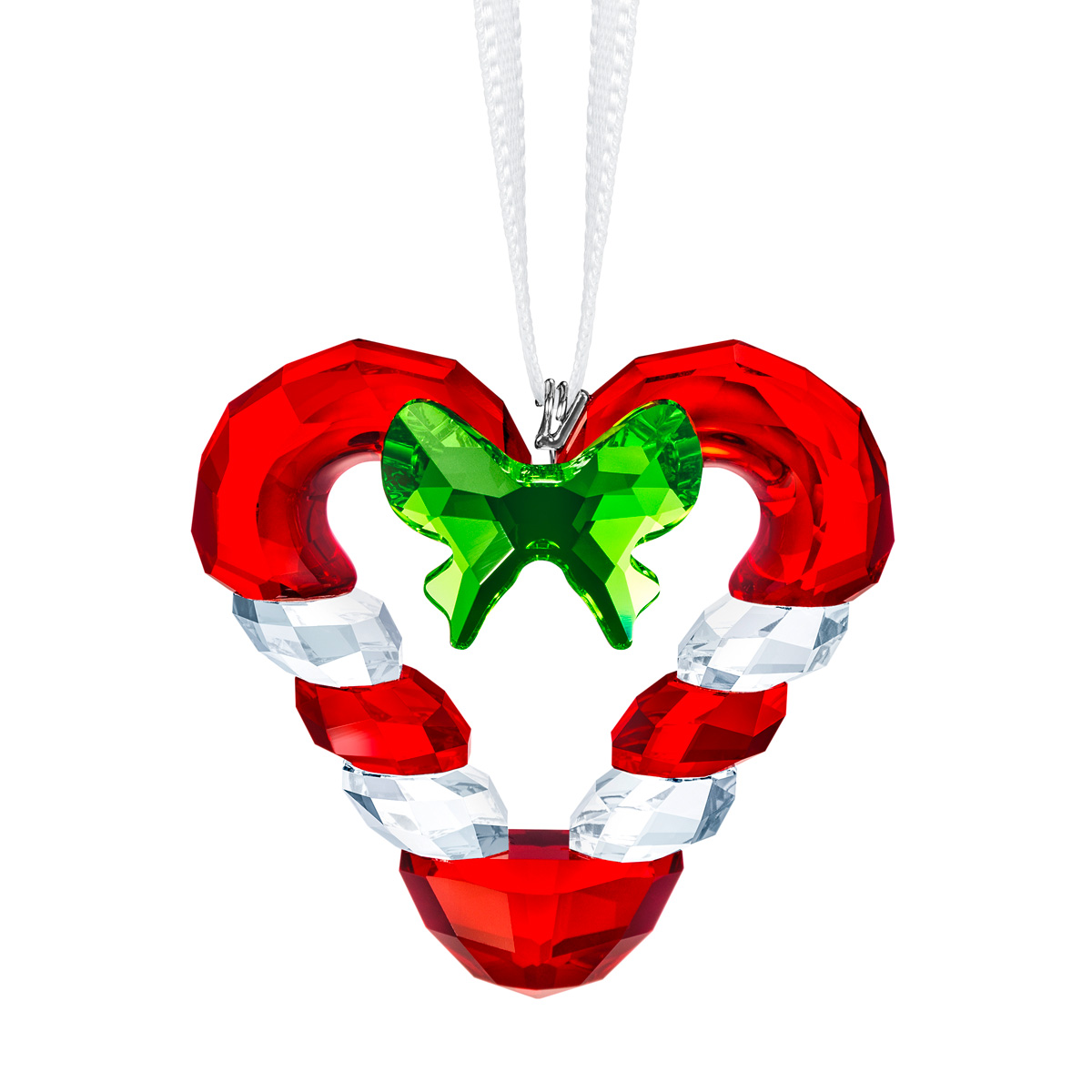 Swarovski Candy Cane Heart Ornament