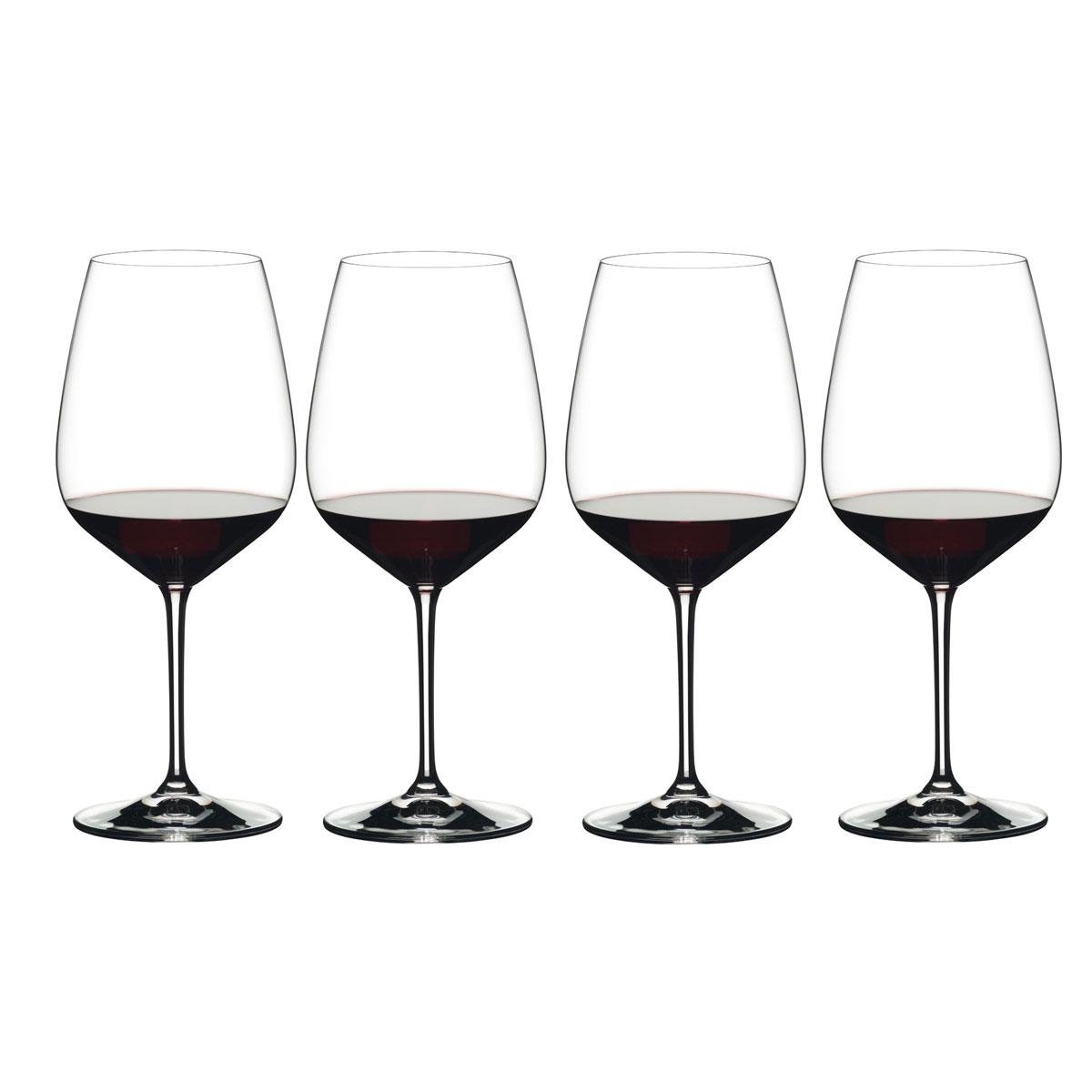 Riedel Heart to Heart Cabernet Sauvignon Wine Glasses Gift Set, 3+1 Free