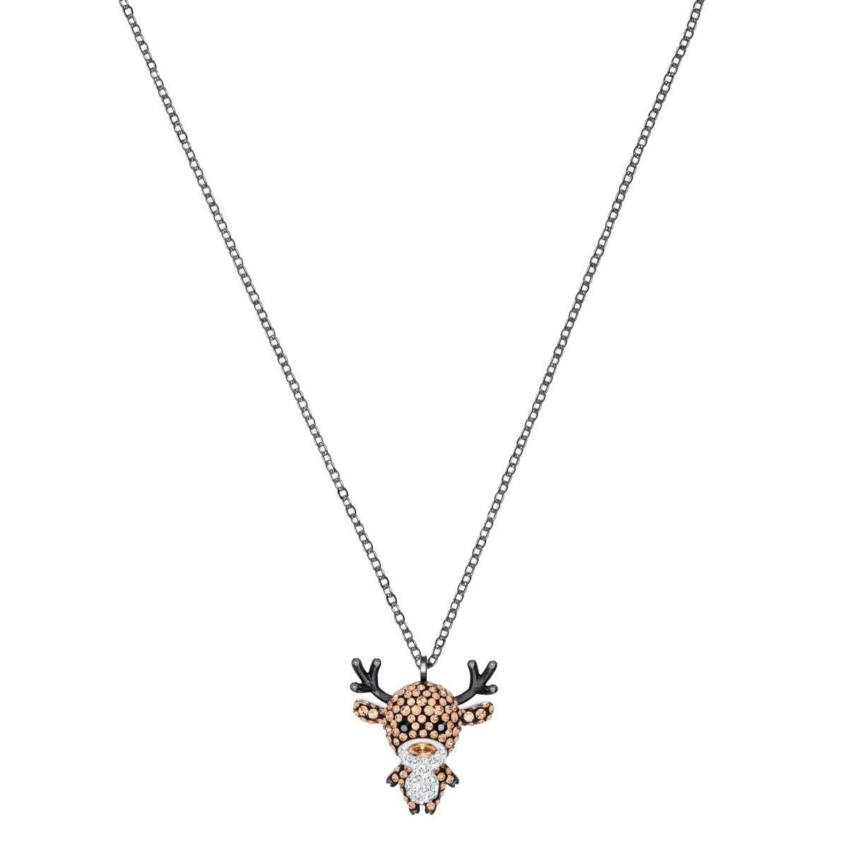 Swarovski Little Reindeer Multi Colored Pendant Necklace