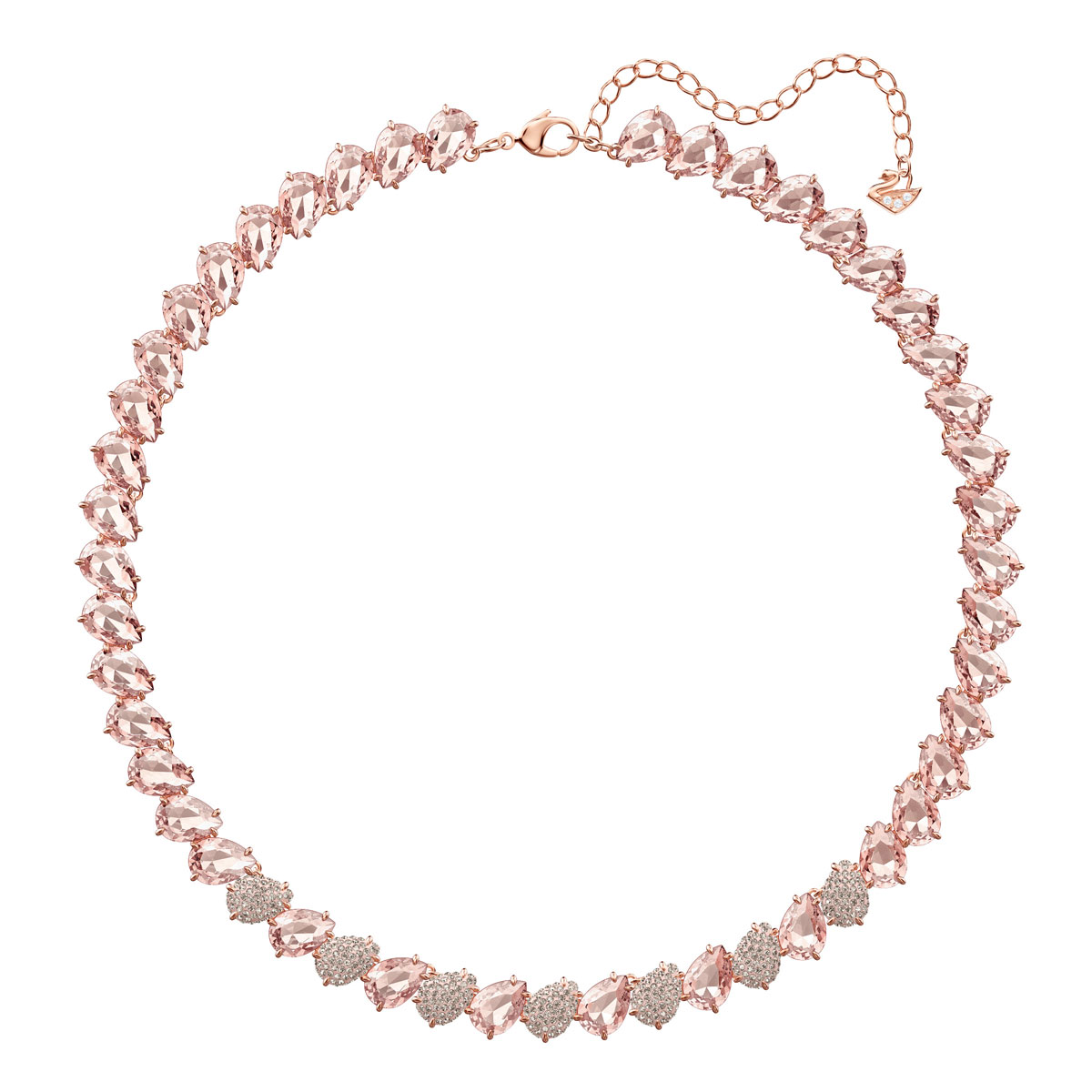 Swarovski Mix Pink Crystal and Rose Gold All-Around Necklace