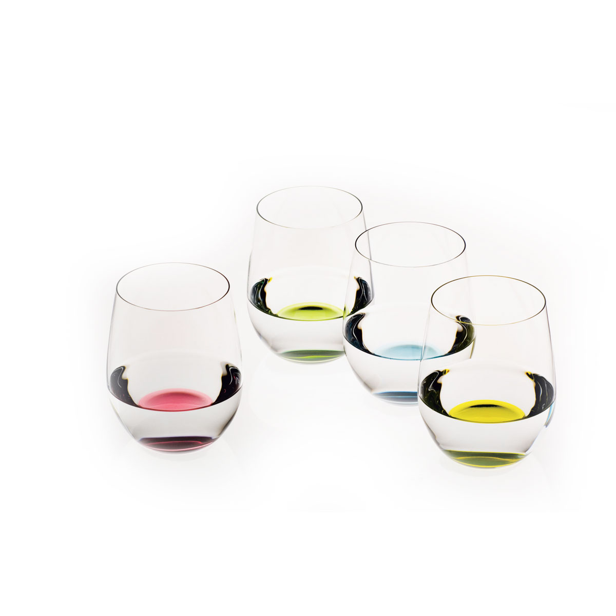 Riedel O Happy O Stemless Tumbler Crystal Wine Glasses, Set of Four