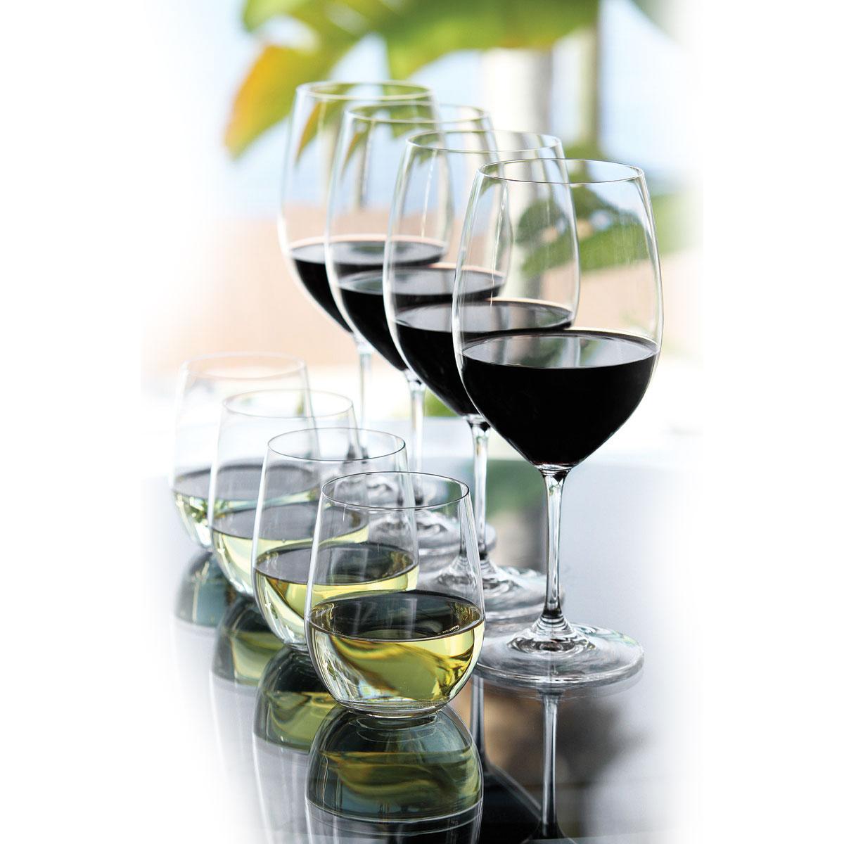 Riedel Vinum Gift Set, Four Vinum Bordeaux + 4 Free O Viognier