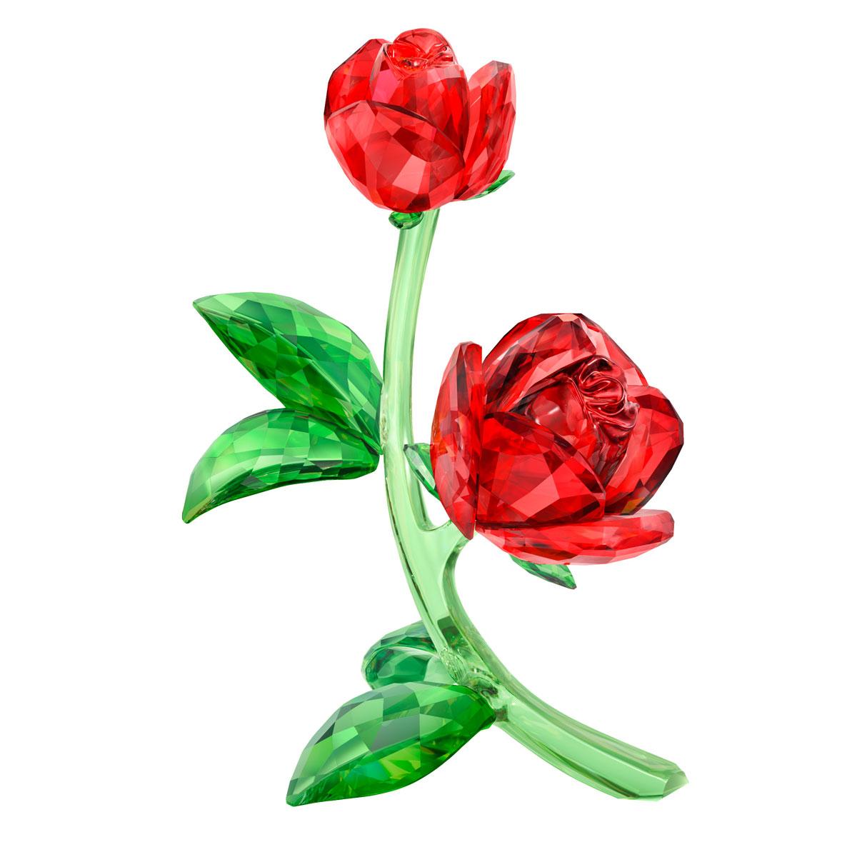Swarovski Crystal Paradise Red Rose
