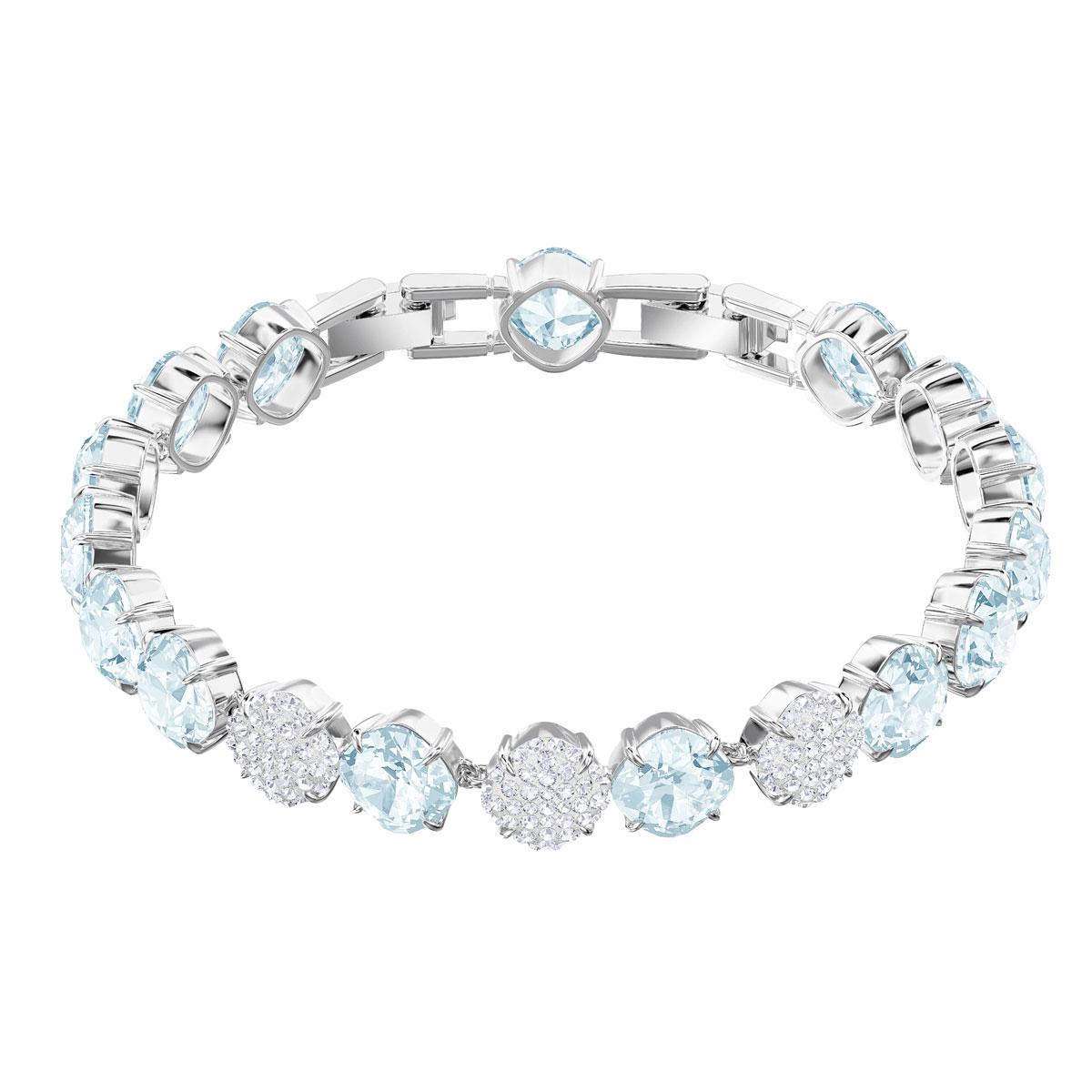 Swarovski Rhodium Silver and Blue Mix and Match Bracelet