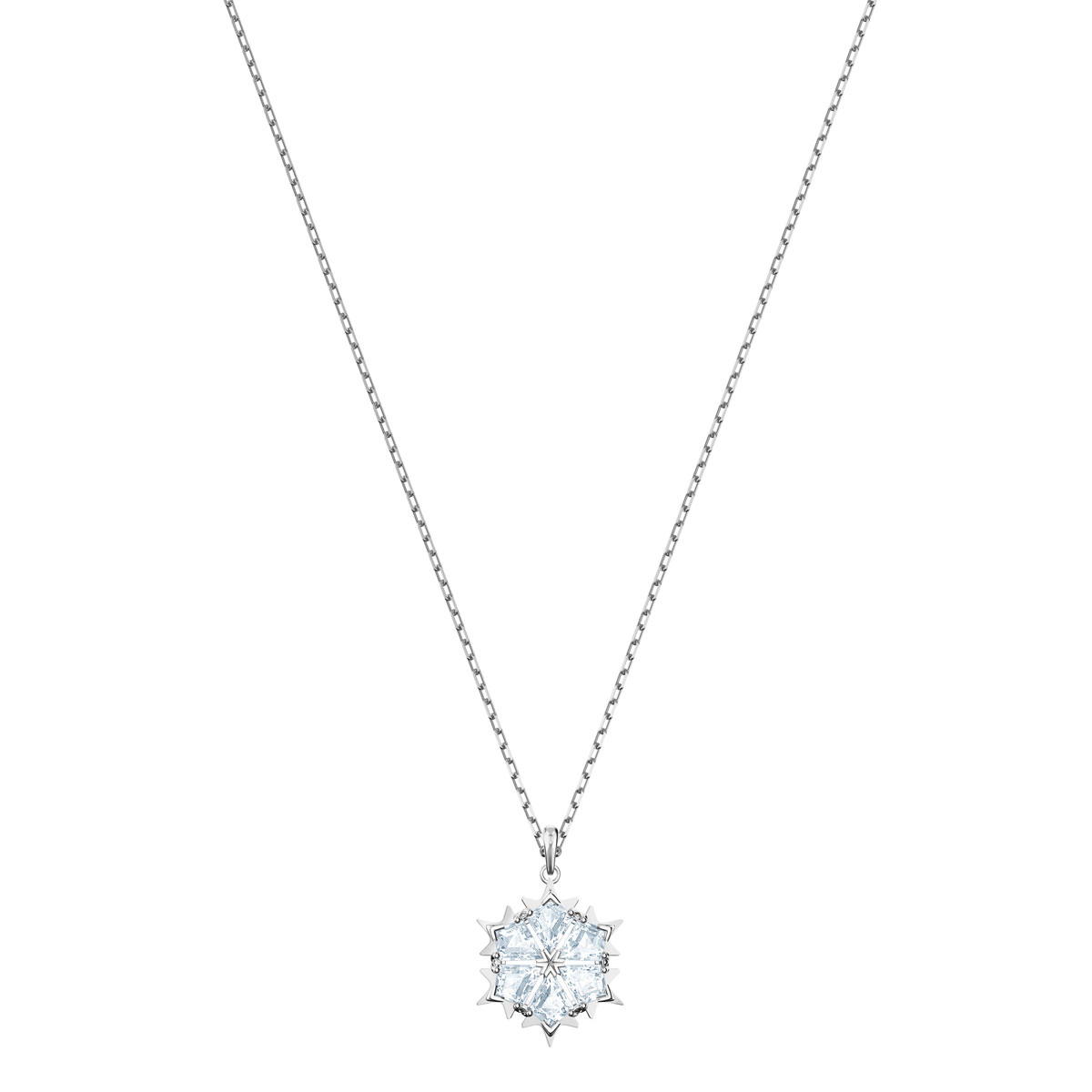 Swarovski Magic Snowflake Pendant, White, Rhodium