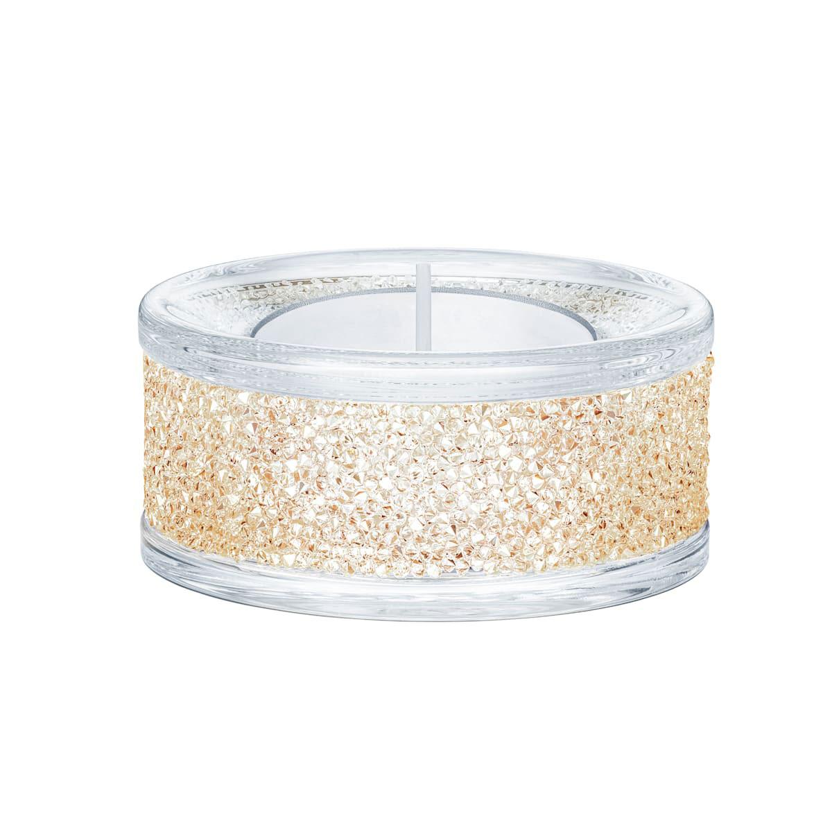 Swarovski Shimmer Gold Tone Tea Light Holder Single