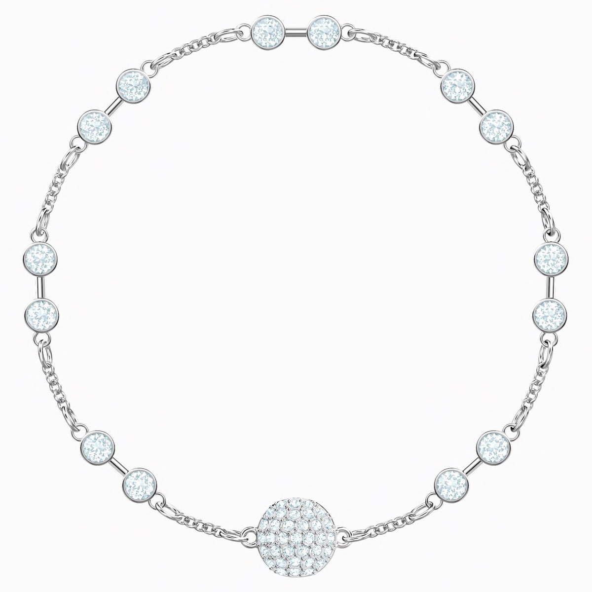 Swarovski Remix Bracelet, White and Rhodium plated