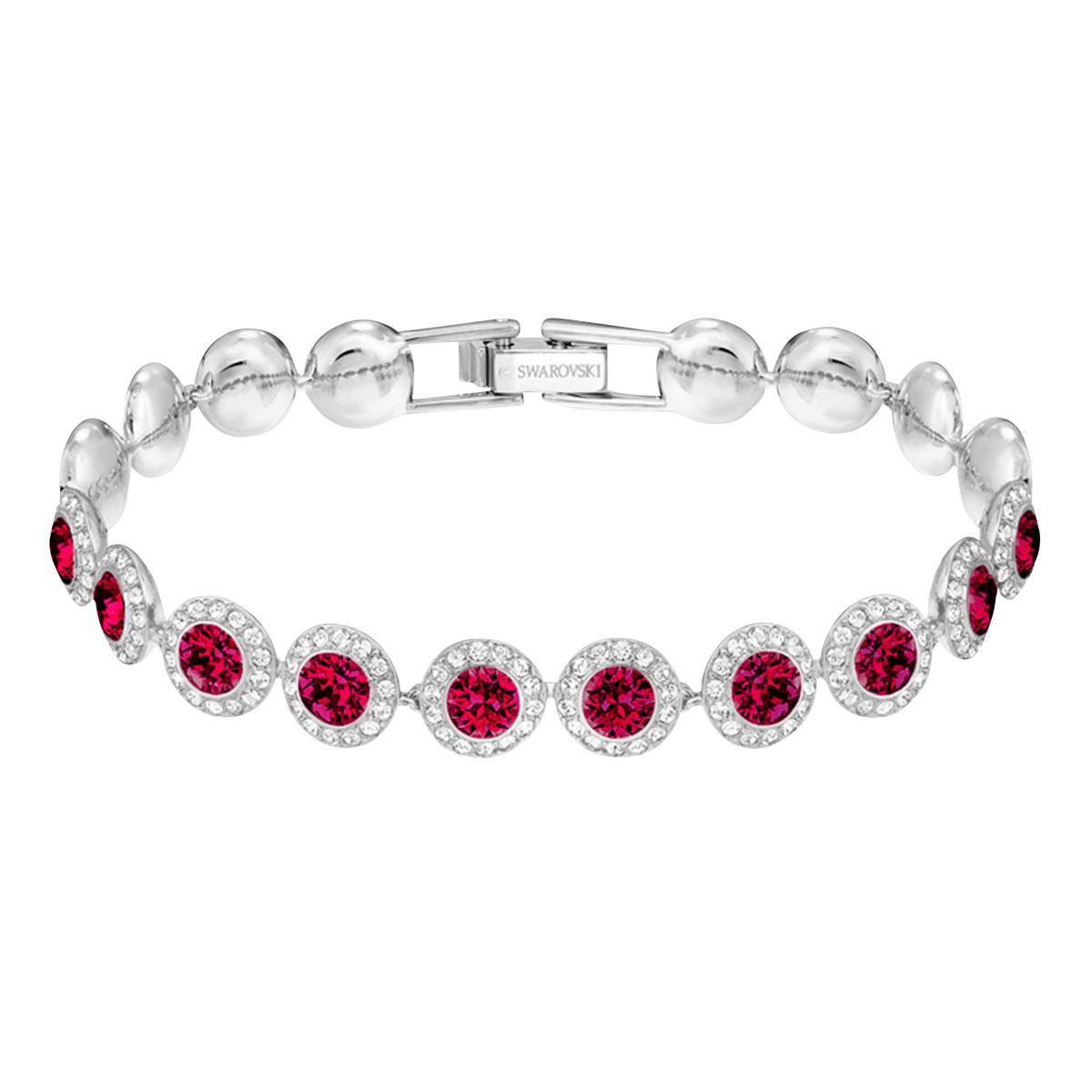 Swarovski Angelic Bracelet, Red, Rhodium