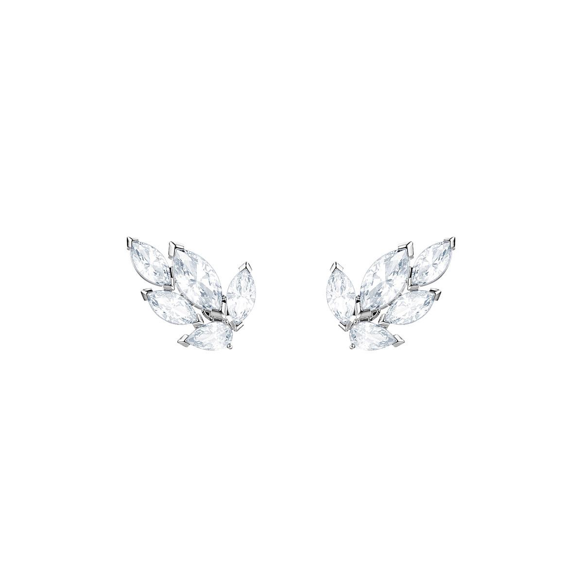 Swarovski Louison Stud Pierced Earrings, White, Rhodium