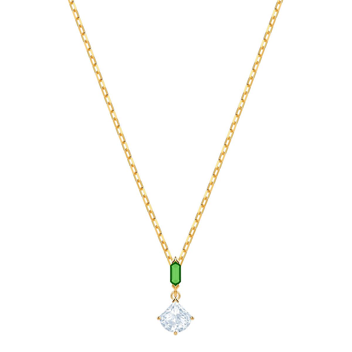 Swarovski Crystal and Gold Oz Pendant Necklace