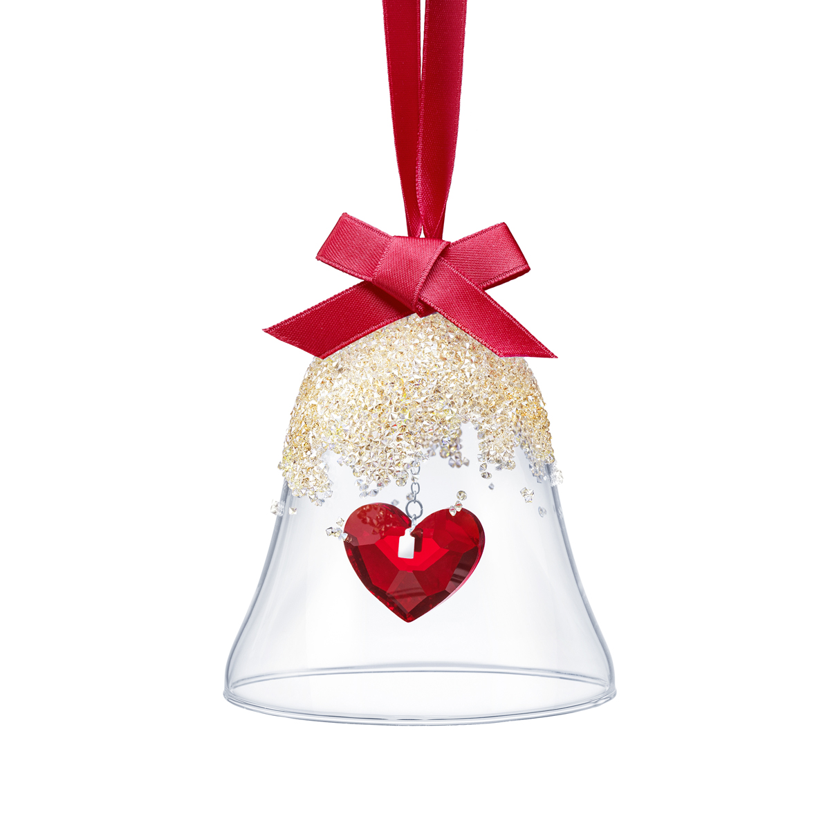 Swarovski Christmas Bell Ornament, Heart