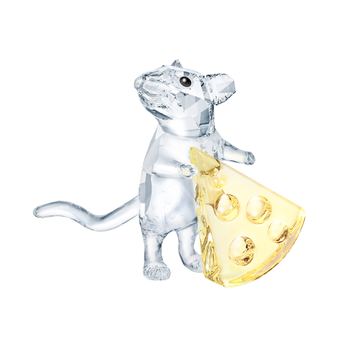 Swarovski Crystal Nature Mouse With Cheese