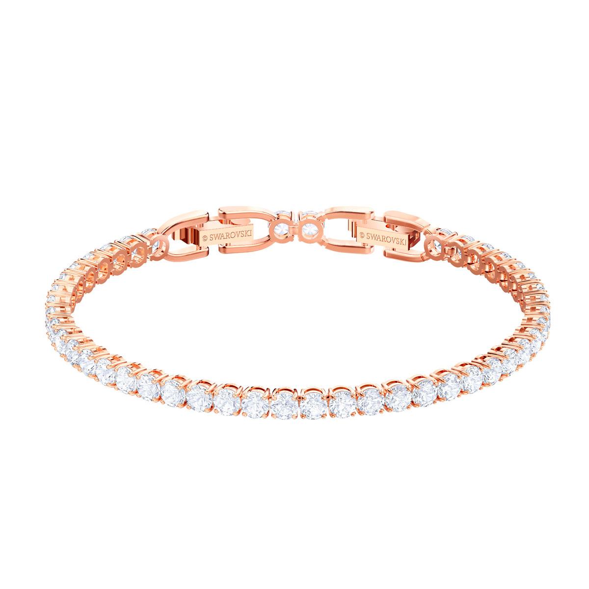 Swarovski Tennis Bracelet, White, Rose Gold
