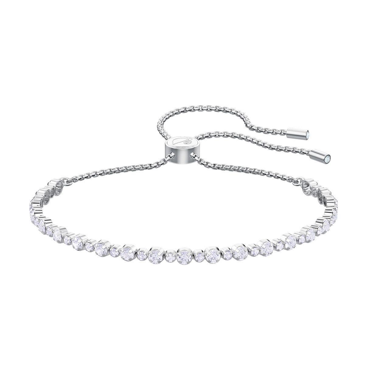 Swarovski Subtle Bracelet, White, Rhodium