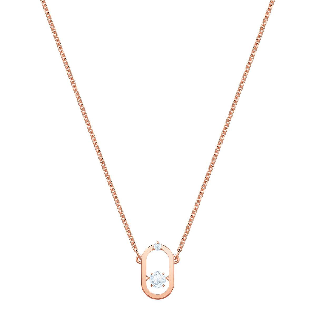 Swarovski North Necklace, White, Rose Gold