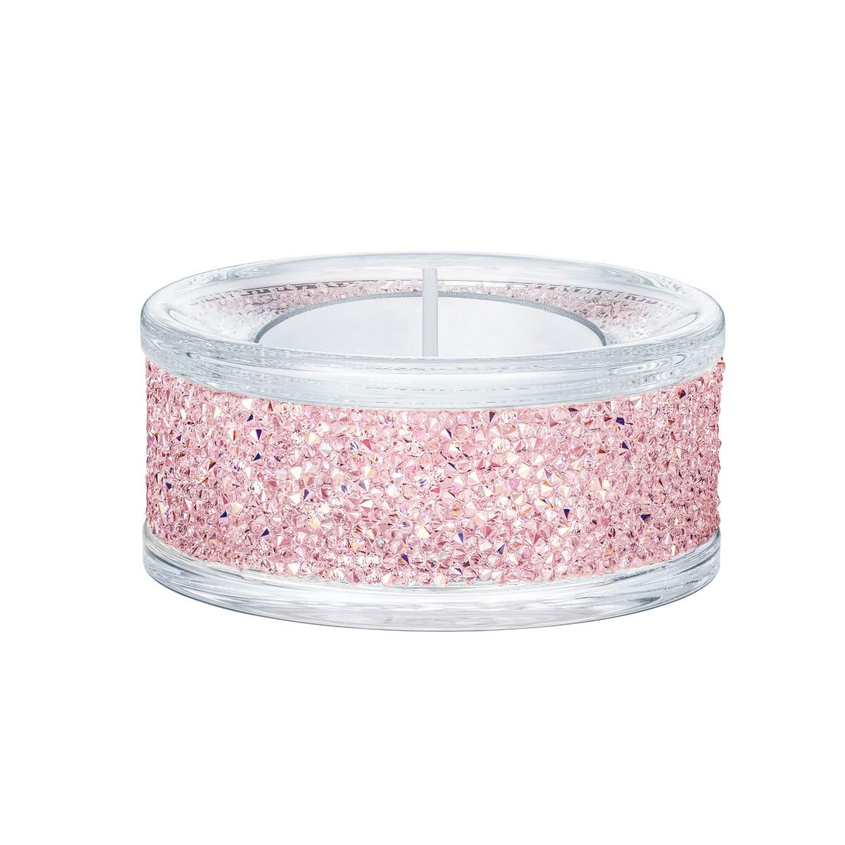 Swarovski Shimmer Pink Tea Light Holder Single