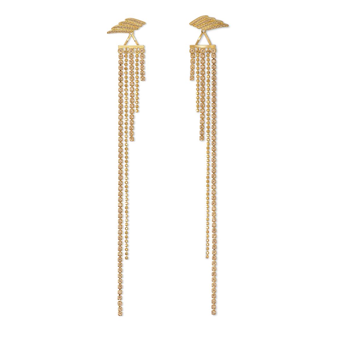 Swarovski Warner Bros. Fit WW Pierced Earrings Tassels Crystal Mix