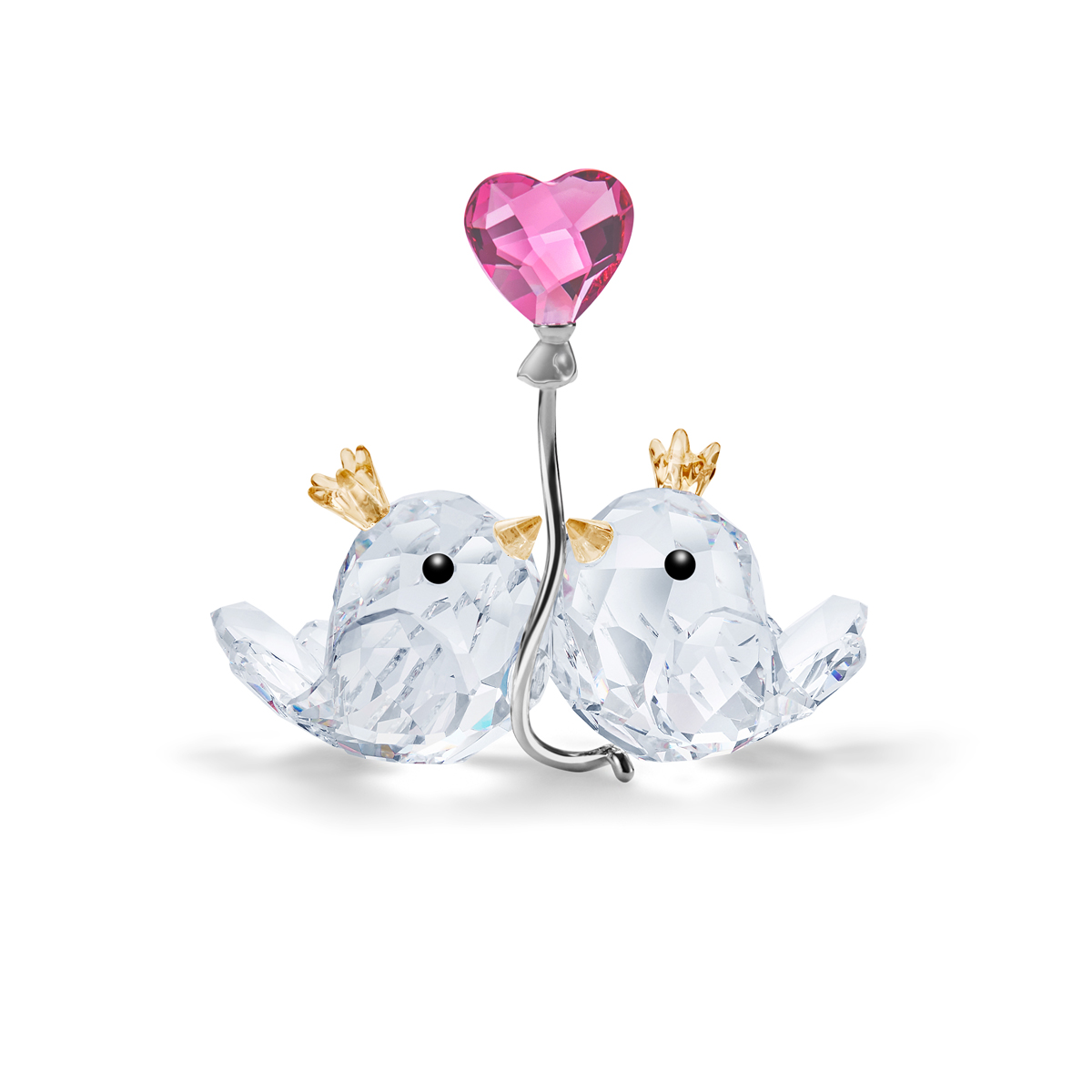 Swarovski Love Birds Couple Pink Heart