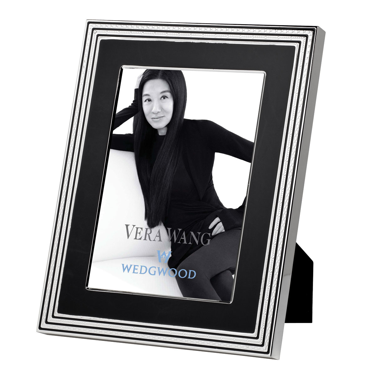 "Vera Wang Wedgwood With Love Noir 4""x6"" Picture Frame"