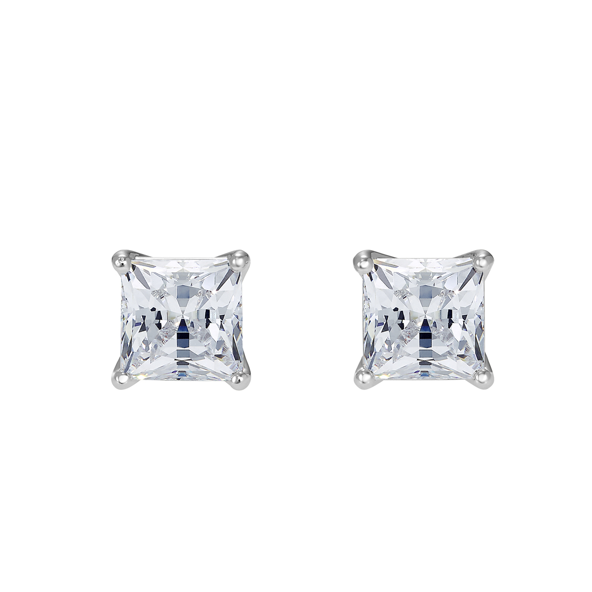 Swarovski Attract Pierced Earrings, White, Rhodium