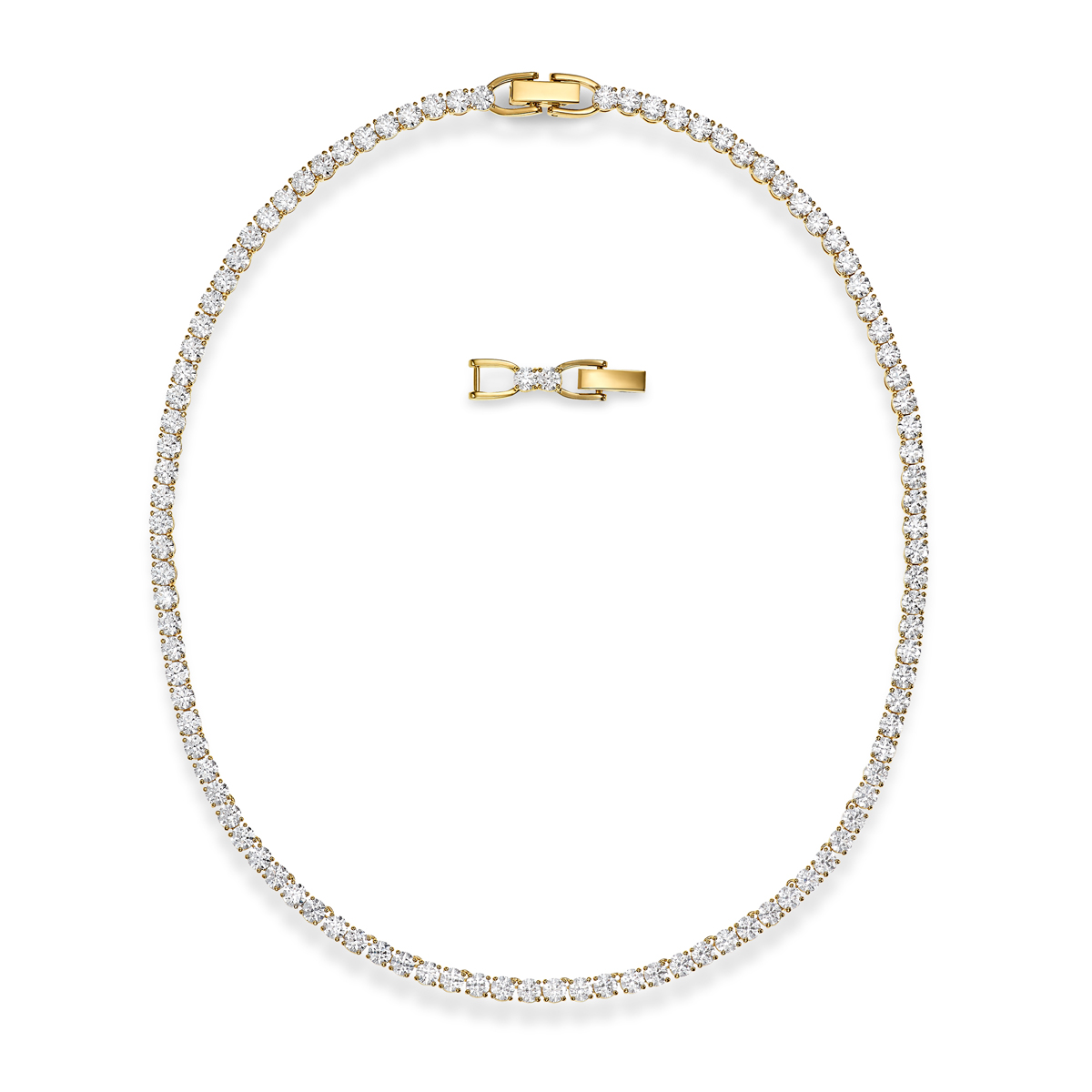 Swarovski Necklace Tennis Deluxe All-Around Deluxe Gold