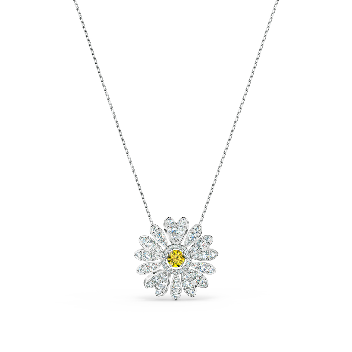 Swarovski Necklace Eternal Flower Pendant Dc Crystal Rhodium Silver